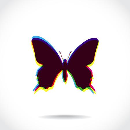 multiply: Negro mariposa compuesta de colores se multiplican