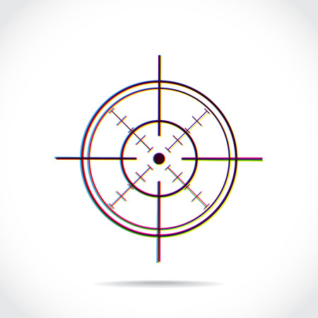 Crosshair symbol created of multiply colors