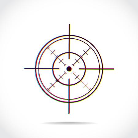 fusil de chasse: Symbole en forme de croix créé de couleurs se multiplient Illustration