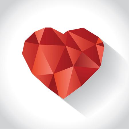 coeur diamant: Ombre de coeur de diamant de coul�e, illustration Illustration