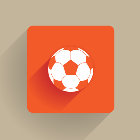 Fotball ball in a flat style