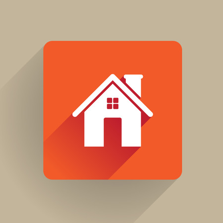 Home icon in flat design