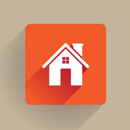 home icon: Home icon in flat design
