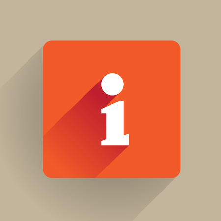 information icon:  i  as Information icon, flat style Illustration