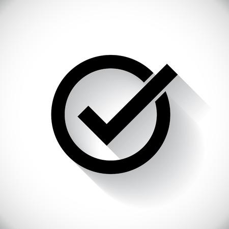 check box: Correct symbol illustration