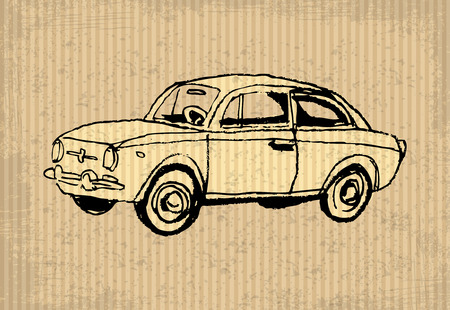 oldtimer: Old-timer - illustration on a cartboard