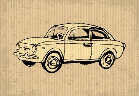 oblivious: Old-timer - illustration on a cartboard