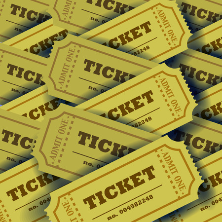 Plenty of tickets with shadows. Vector Vector