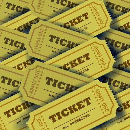 plenty: Plenty of tickets with shadows. Vector