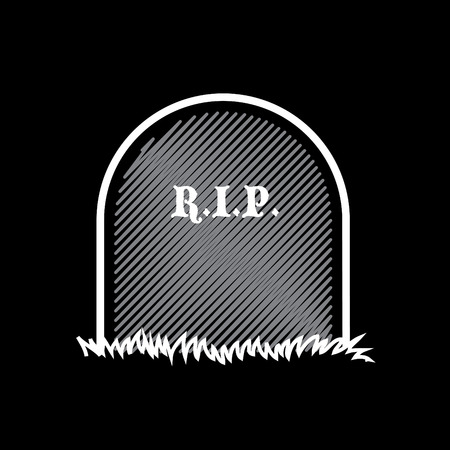 rest in peace: Gravestone, rest in peace - illustration