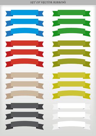 Set of vector ad ribbons - illustration  イラスト・ベクター素材