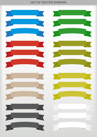 Set of vector ad ribbons - illustration Vectores