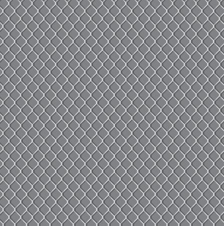 chainlink: wired fence - illustartion