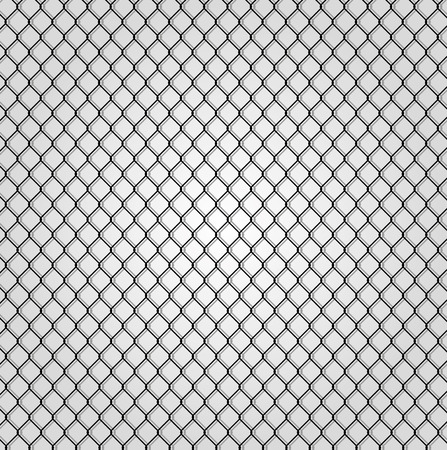 chain fence: wired fence - illustartion
