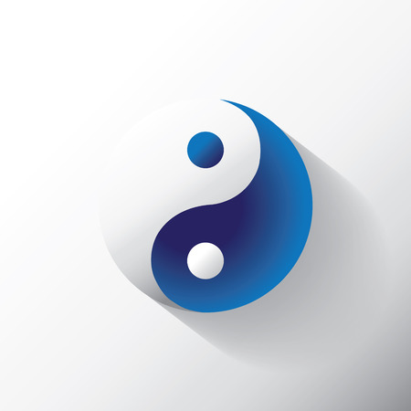 The Ying Yang sign, illustration Illustration