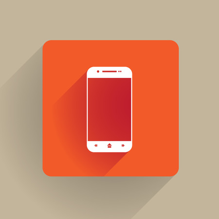 Cellphone icon in flat design Vector