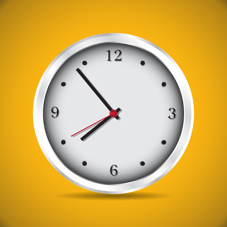 sec: Modern analog clocks made in simple design - illustration