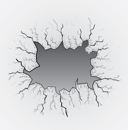 broken glass table, cracks, illustration