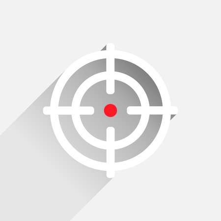 crosshair: Flat crosshair with red dot - illustration