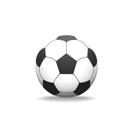 kickball: Soccer ball isolated on white, illustration