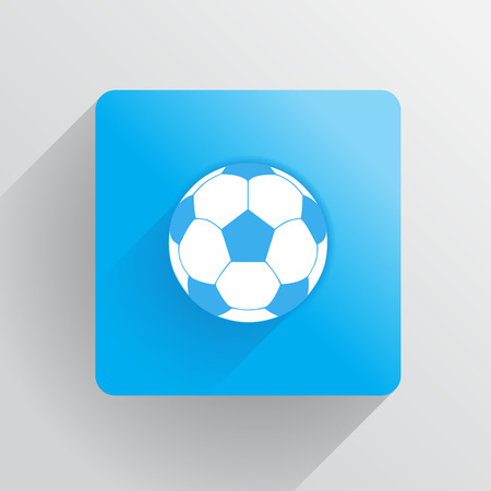 footbal: Fotball ball in a flat style