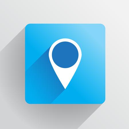 Geo tag pin icon - illustration Vector