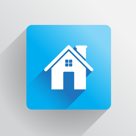 residents: Home icon in flat design