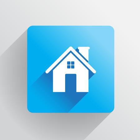 investment real state: Inicio icono en diseño plano