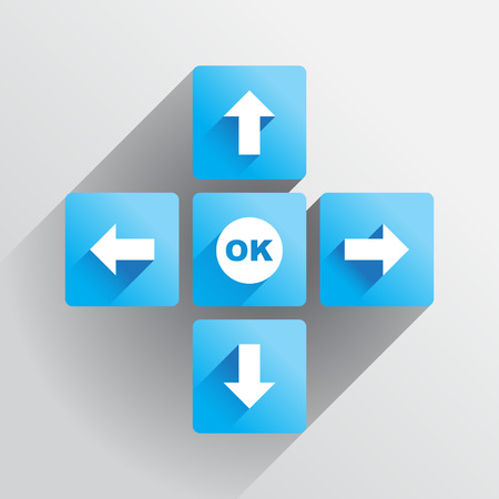 Navigation buttons, arrows in the flat style