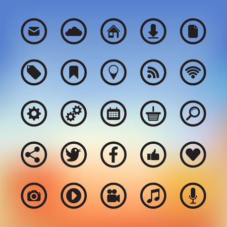 interface design: icons for web and user interface design
