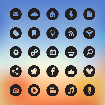 icons for web and user interface design Vector