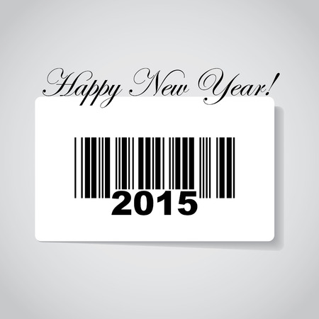Happy new year 2015 in barcode - illustration Vector