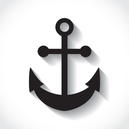 anchors on white background in flat design Vector