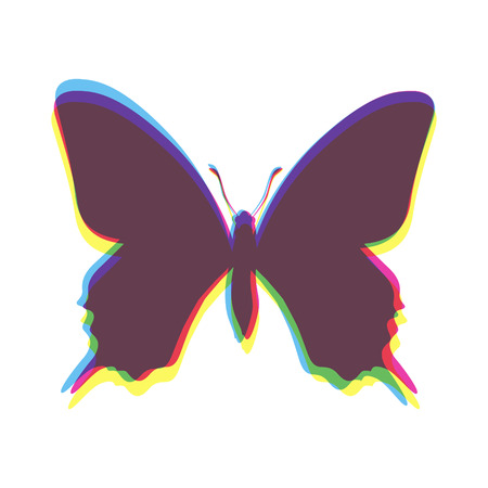 multiplicar: Mariposa de color negro compuesto de multiplicar Vectores