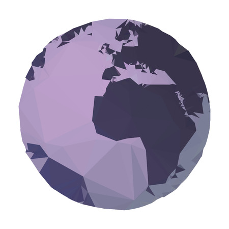 simplified: Polygon planet Earth, illustration