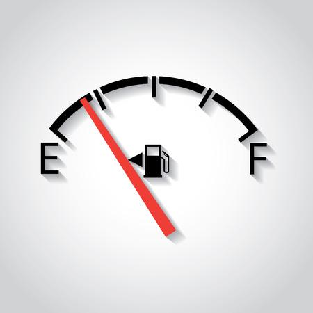 flat display panel: Gas gage, in flat design Illustration