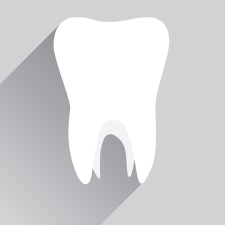 tooth paste: White tooth in flat design Illustration
