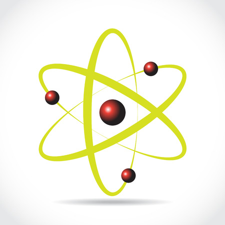 nuclear icon: Atom symbol, illustraton