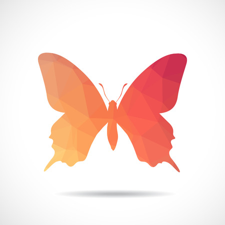 Polygonal illustration of butterfly Vector