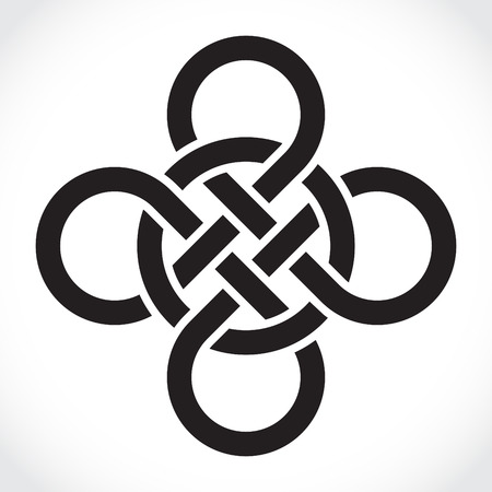 irish countryside: Celtic symbol, illustration Illustration