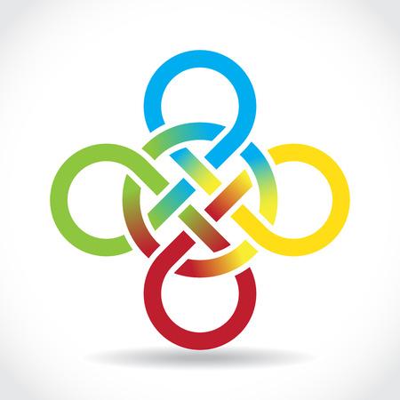 national symbol: Celtic symbol, illustration Illustration