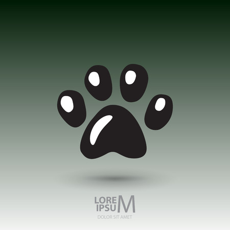 Animal footprint logotype, corporate identity logo Vector