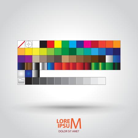 aplication: Computer Aplication - Colored Palette Guide Illustration