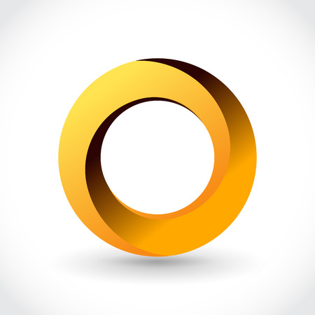 o': Impossible looped circle vector icon template. Luxury symbol