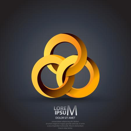 Résumé cercles icône. Technologie, affaires, modèle de conception de logo d'entreprise