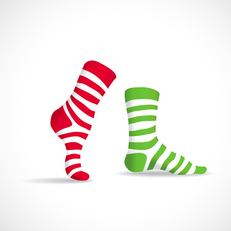long socks: Stripped socks, illustration Illustration