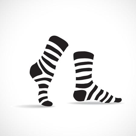 sexy stockings: Stripped socks, illustration Illustration