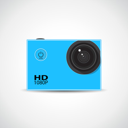 extreme close up: Small action sport HD waterproof camera