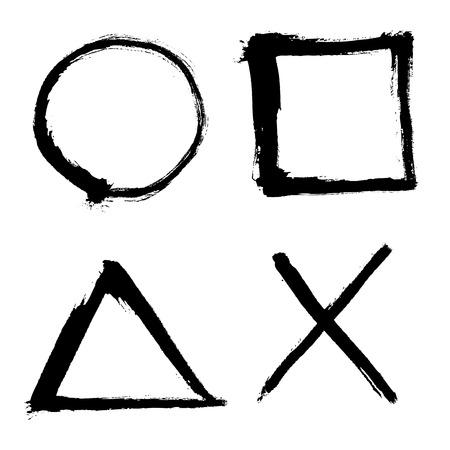 正方形、円、三角形要素を概説