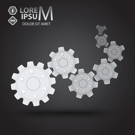 corporal: Cog wheel (gears) logotype. Vector illustration